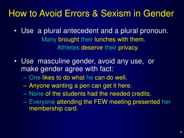 How to Avoid Errors & Sexism in Gender