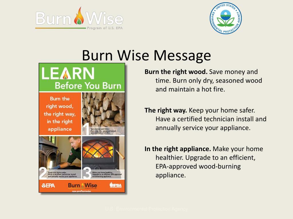 Burn Wise Message