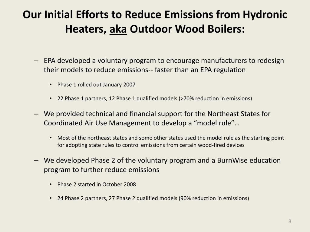 Our Initial Efforts to Reduce Emissions from
