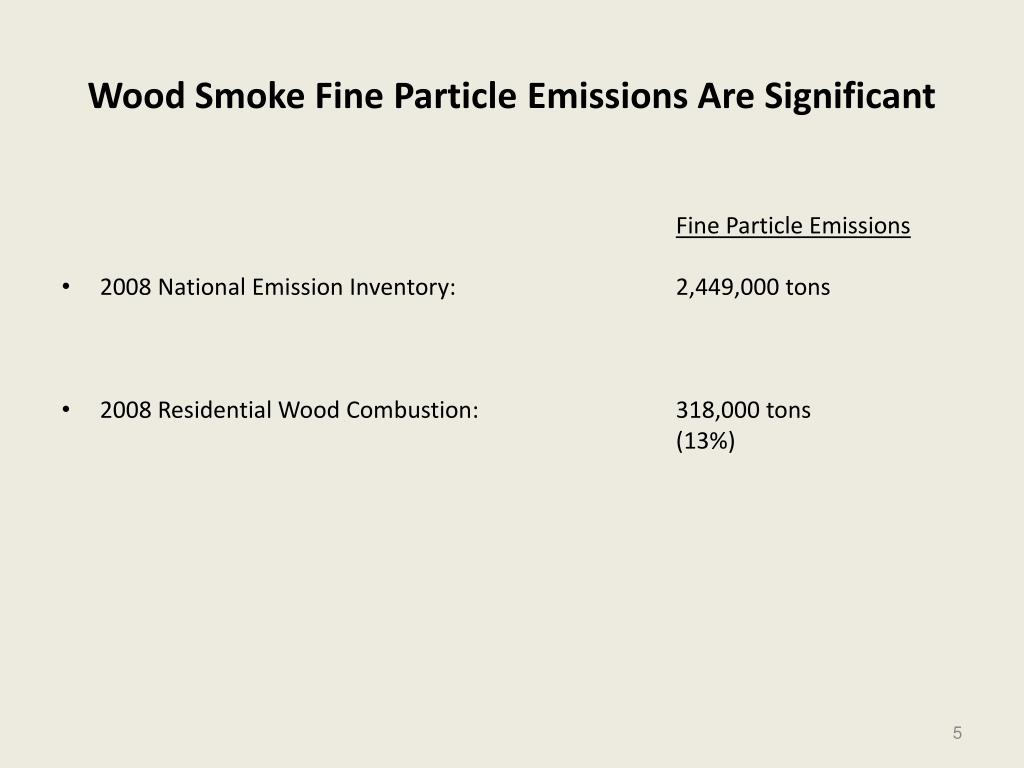 Wood Smoke Fine Particle Emissions Are Significant
