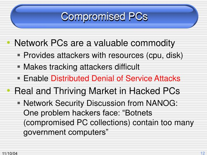 Compromised PCs