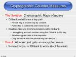 cryptographic counter measures