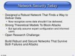 network security today