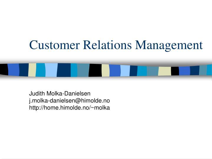 customer relations management n.