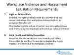 workplace violence and harassment legislation requirements18