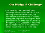our pledge challenge