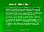 quick wins no 1