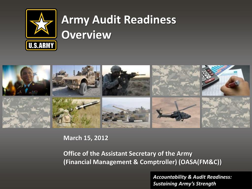army audit readiness overview l.