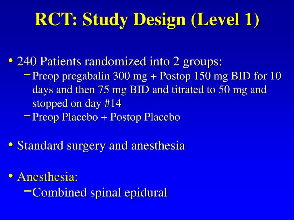 RCT: Study Design (Level 1)