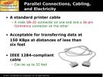 parallel connections cabling and electricity