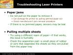 troubleshooting laser printers58