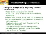 troubleshooting laser printers59