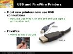 usb and firewire printers