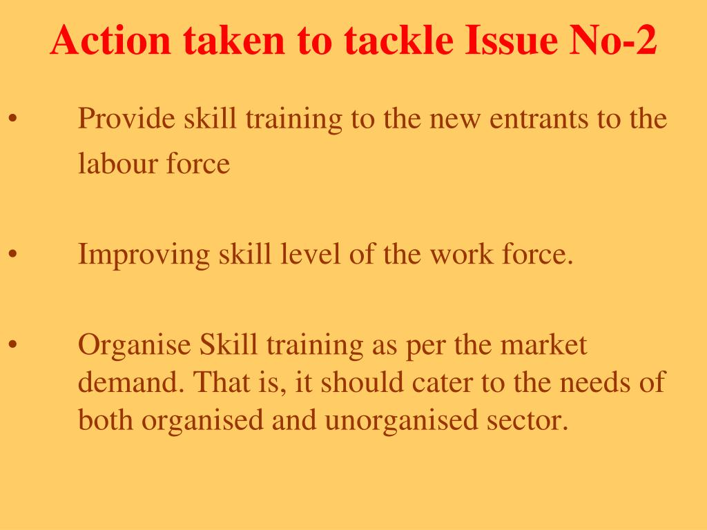 Action taken to tackle Issue No-2