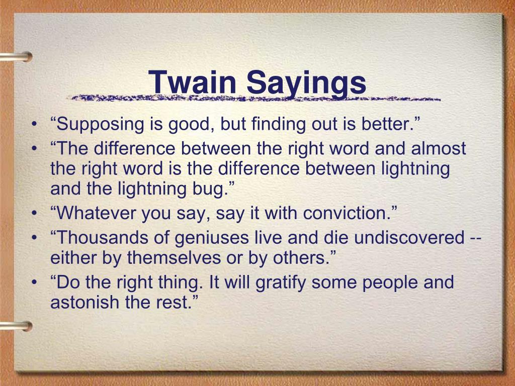 Twain Sayings