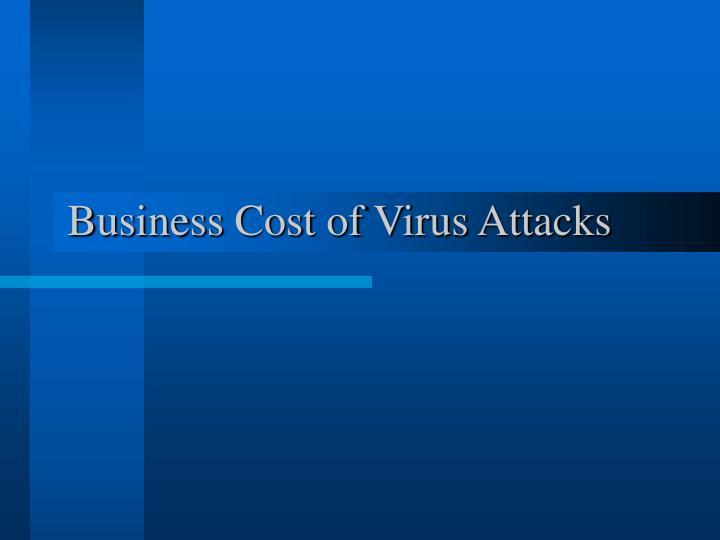 Business Cost of Virus Attacks