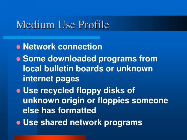 Medium Use Profile
