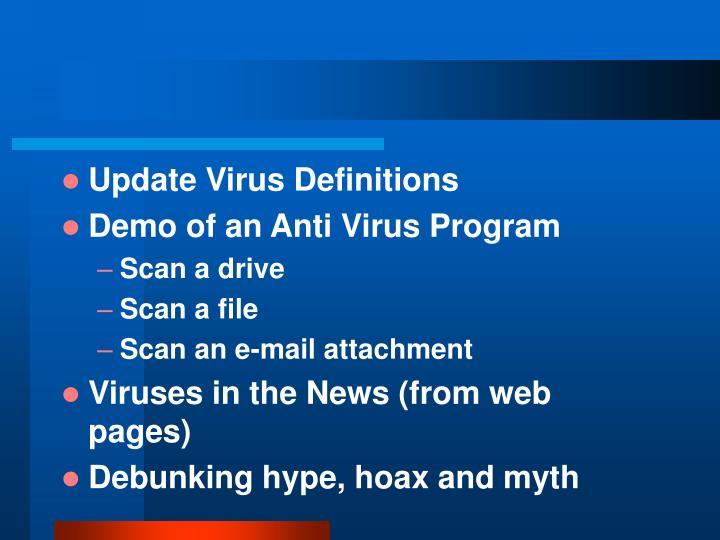 Update Virus Definitions