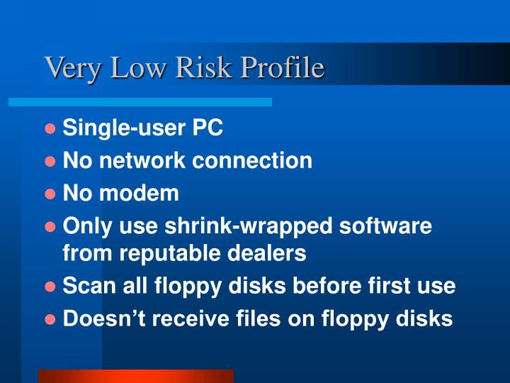 Very Low Risk Profile
