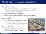middle east construction programme