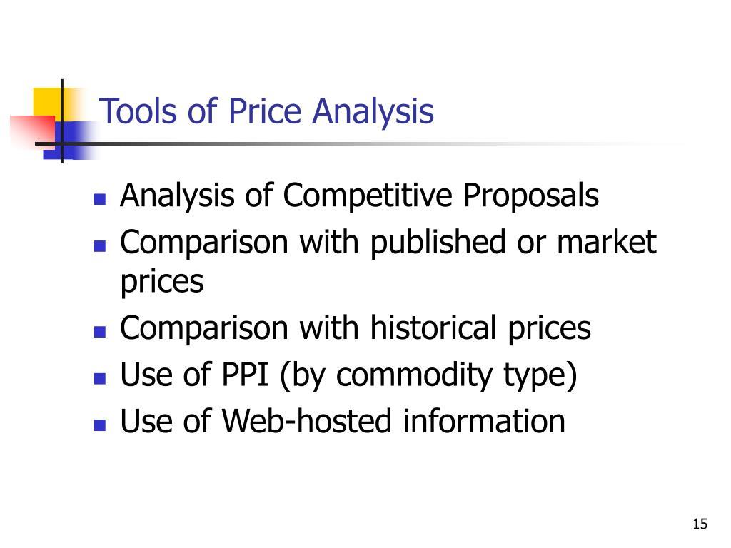 Tools of Price Analysis