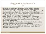 suggested sources cont