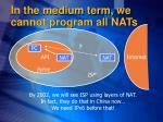 in the medium term we cannot program all nats