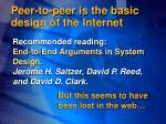 peer to peer is the basic design of the internet