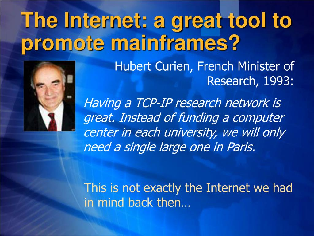 The Internet: a great tool to promote mainframes?