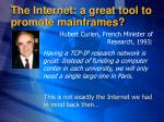 the internet a great tool to promote mainframes