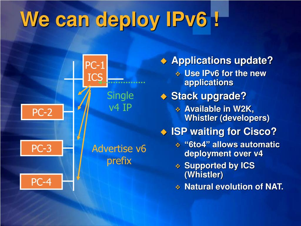 We can deploy IPv6 !