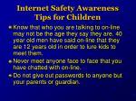internet safety awareness tips for children1