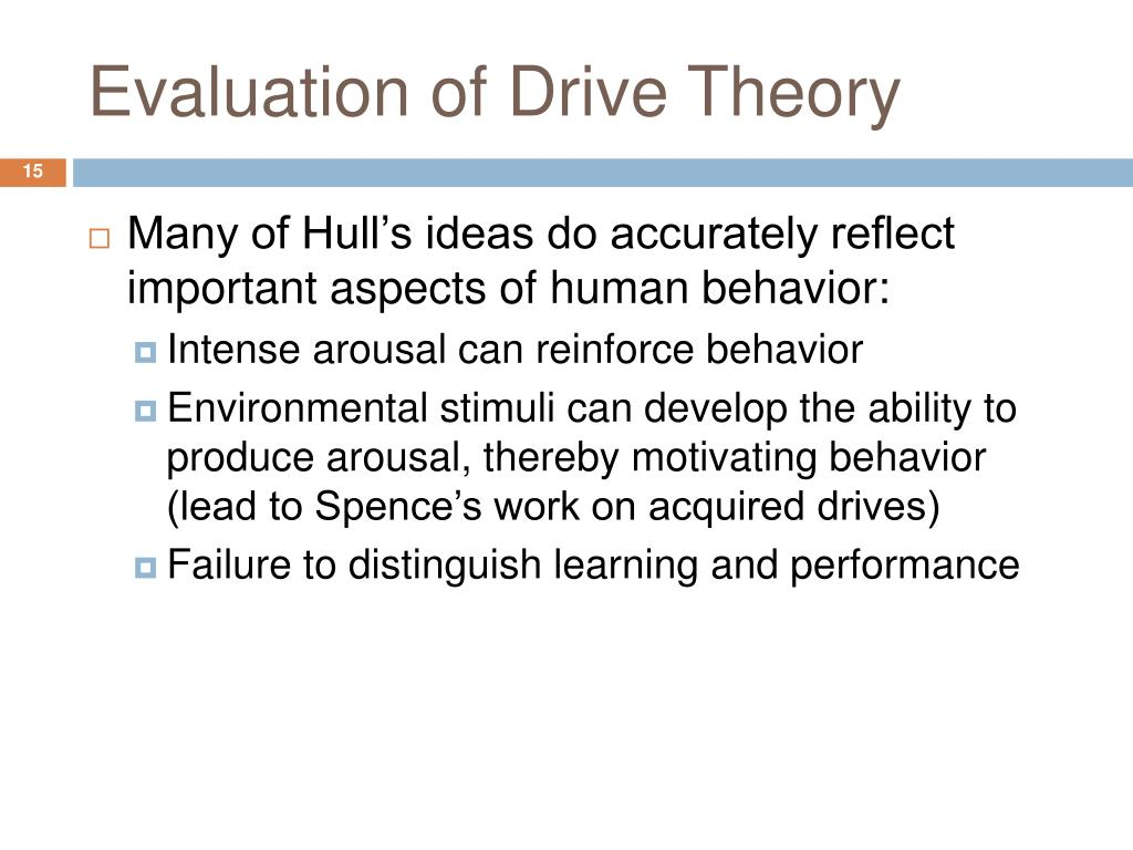 Evaluation of Drive Theory