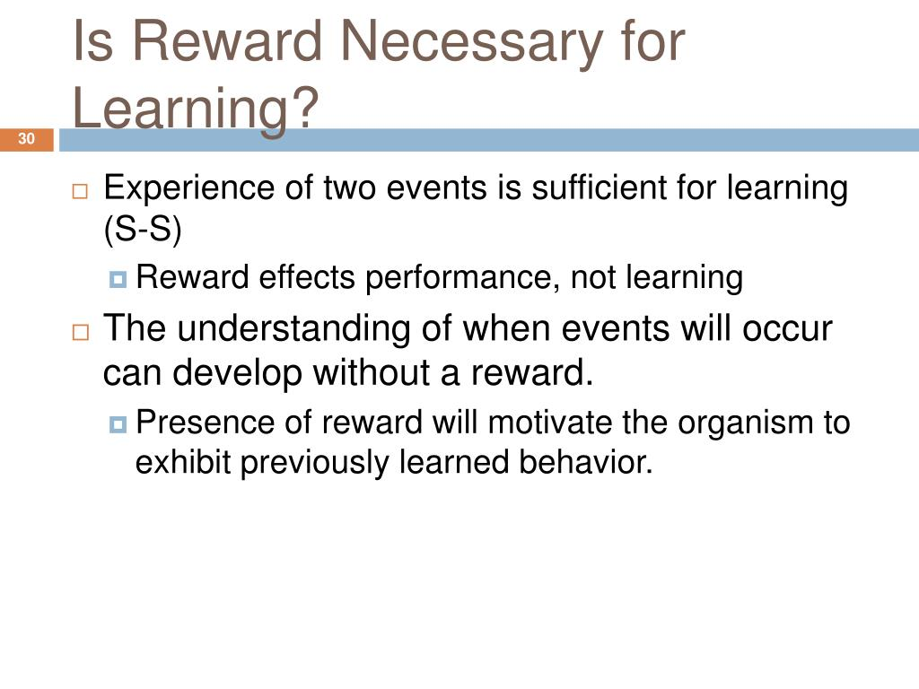 Is Reward Necessary for Learning?