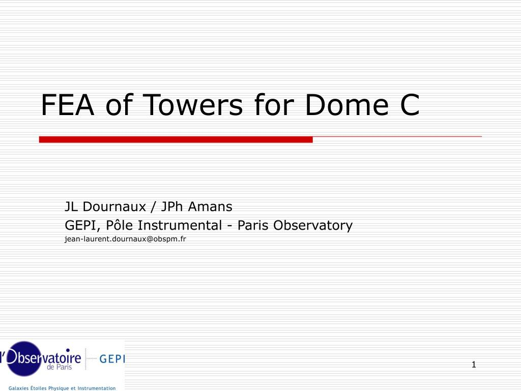 fea of towers for dome c l.