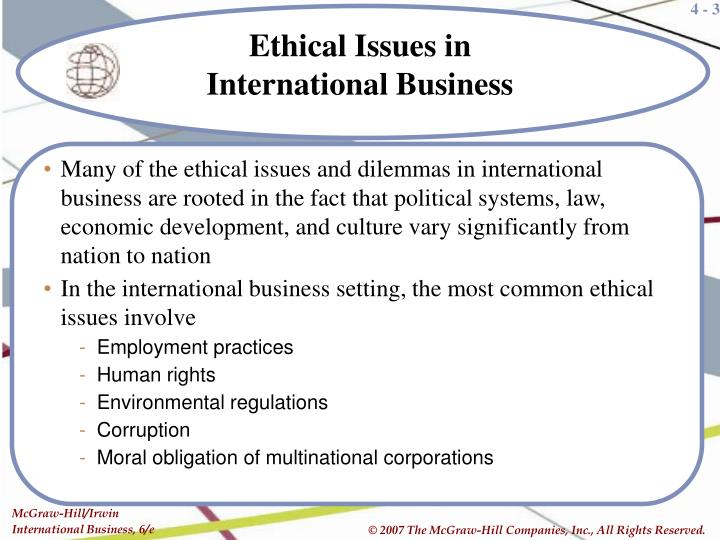 issues in international business why issues in