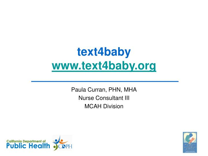 text4baby www text4baby org n.