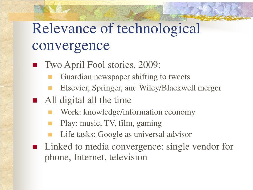 Relevance of technological convergence