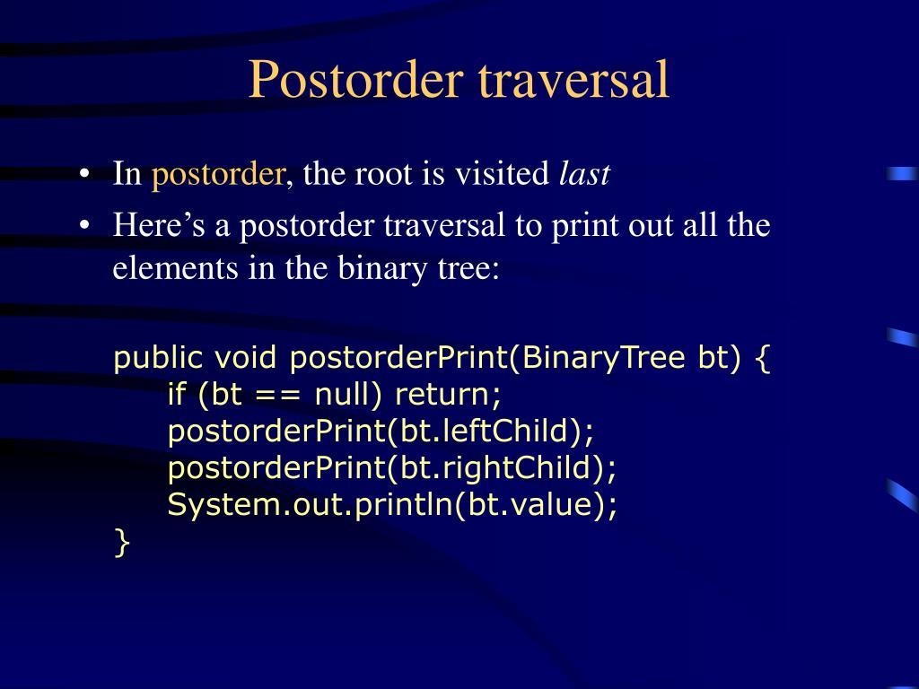 Postorder traversal