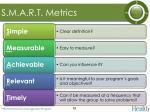 s m a r t metrics