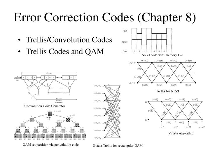 convolution codes and viterbi algorithm Convolution codes are viterbi algorithm and sequential algorithm the sequential decoding has an advantage that it can perform very well with long constraint length.