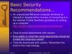basic security recommendations18