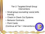 tier 2 targeted small group interventions