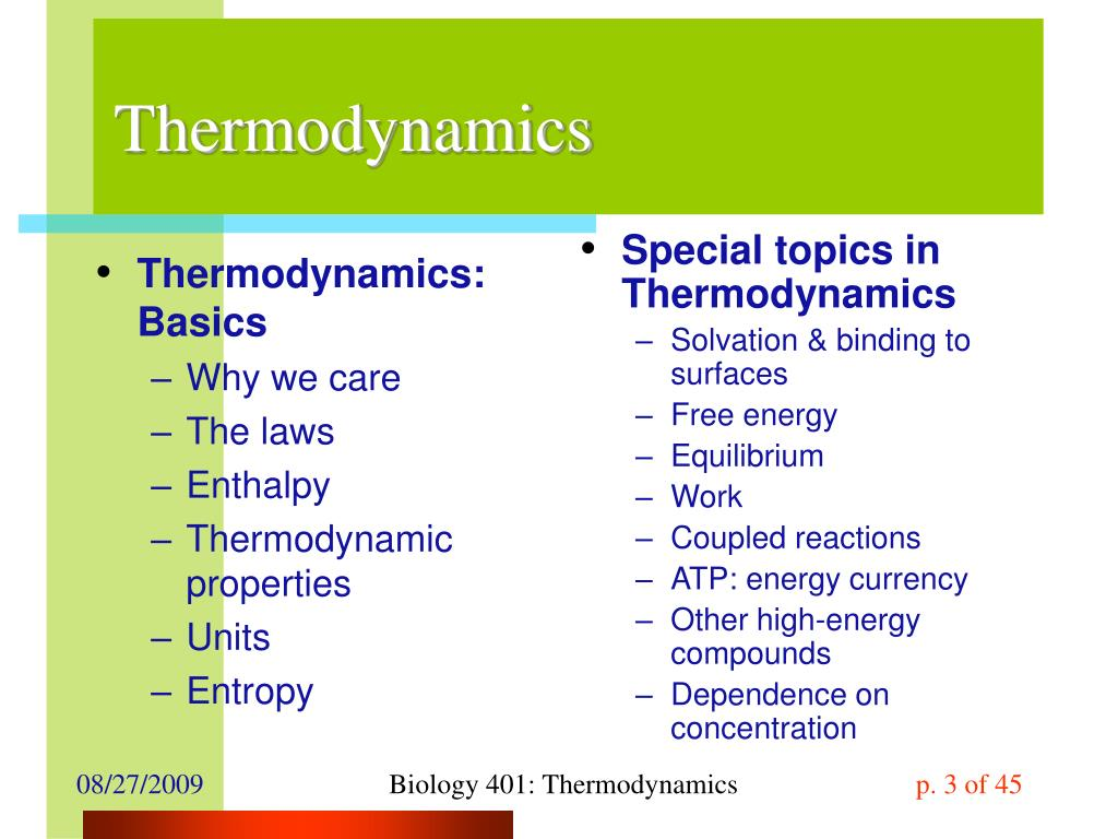 Thermodynamics: Basics