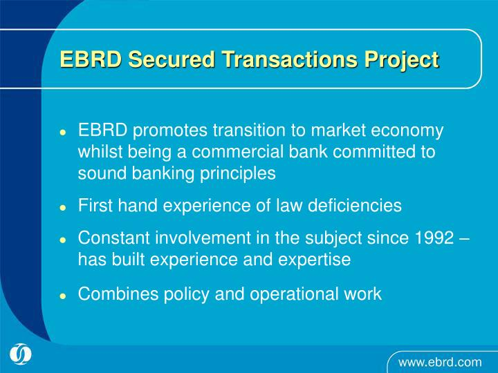 Ebrd secured transactions project