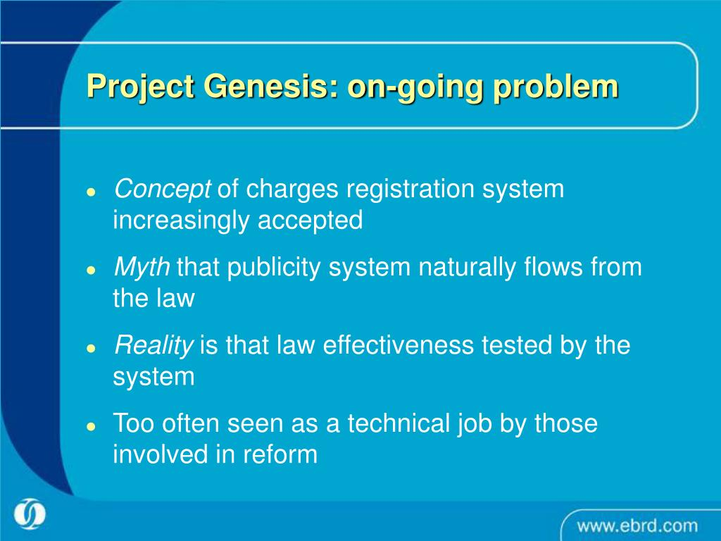 Project Genesis: on-going problem