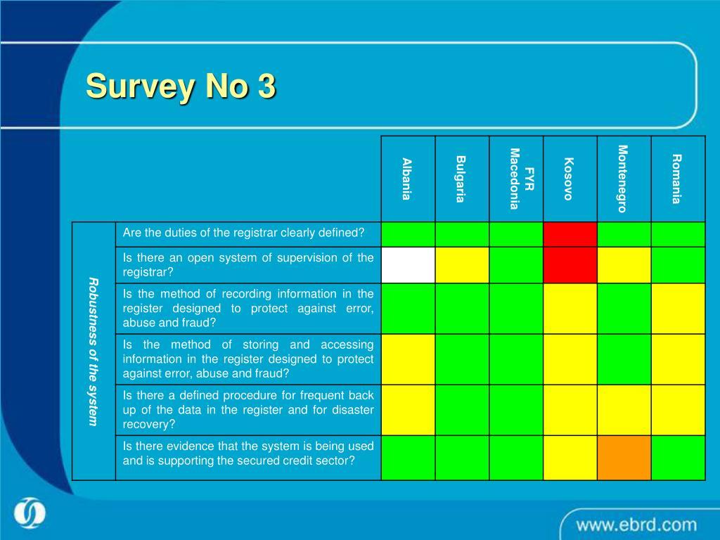 Survey No 3