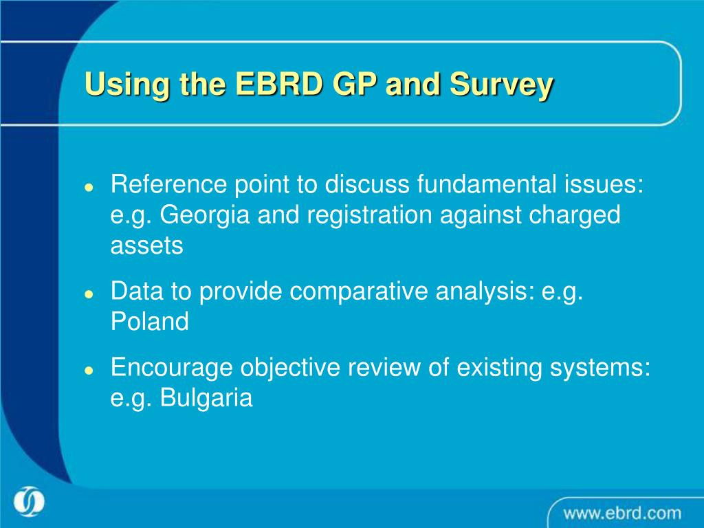 Using the EBRD GP and Survey