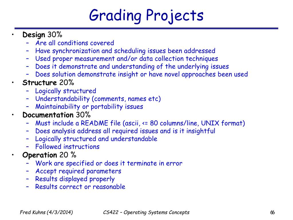 Grading Projects