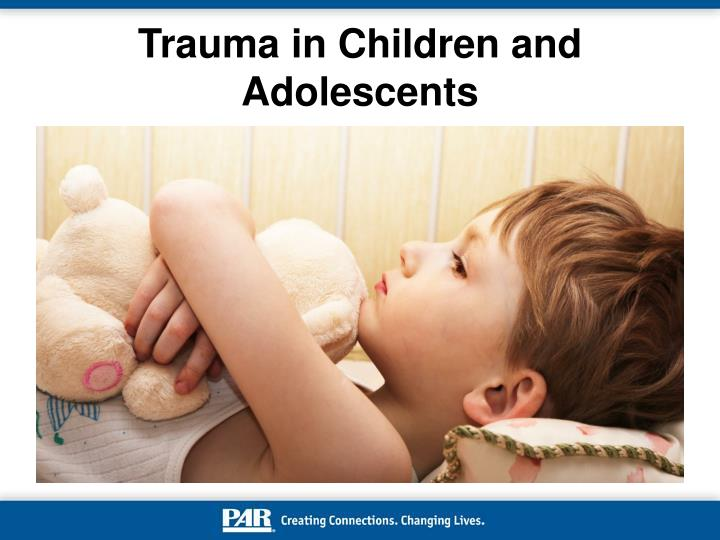 trauma in children and adolescents n.